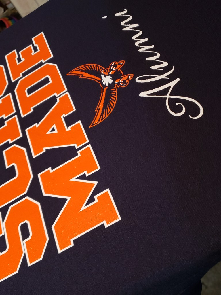 Screen print t-shirt with SCHS MADE, Alumni on it