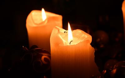 A RUINED CANDLE WAX STILL BREATHES ITSELF INTO SHAPE by Ugochukwu Damian