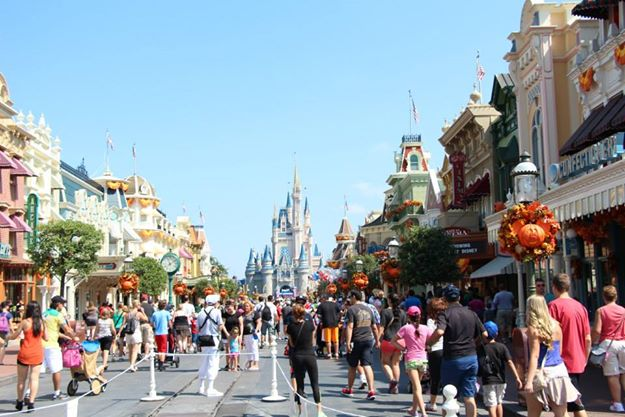 Street that leads to Cinderella Castle
