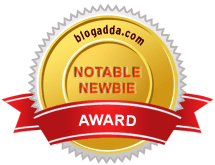 BlogAdda Notable Newbie badge