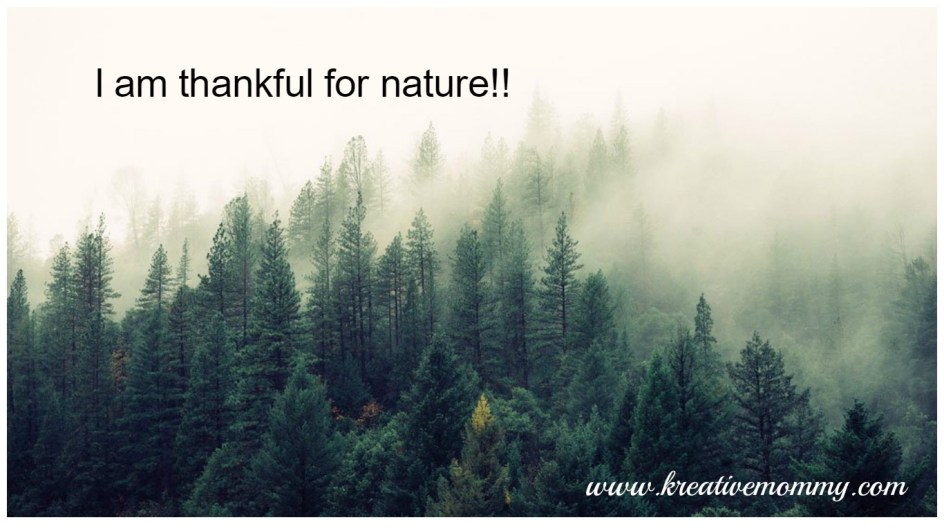 Thankful for nature