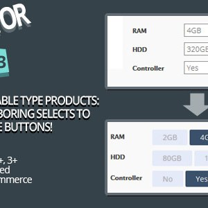 WooCombinator for variable products - Turn your boring selects into buttons!
