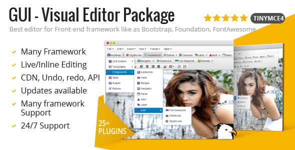 GUI - Visual Editor Package For TinyMCE
