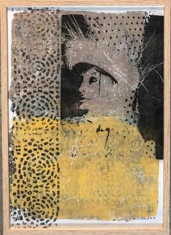 Fransk Selvportræt - print, Trine H. Holmvard