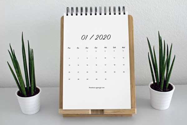 Minimalističen koledar