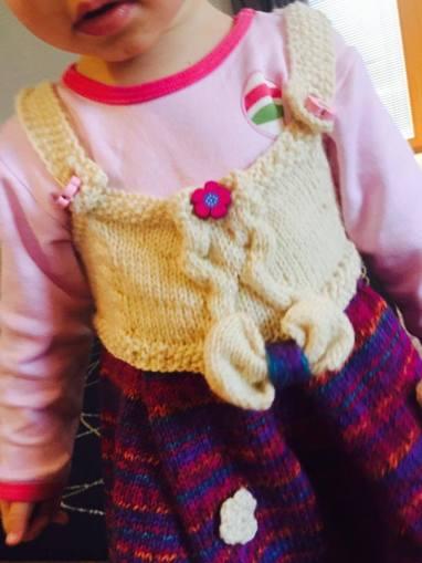 Pletené šatičky pro Terezku
