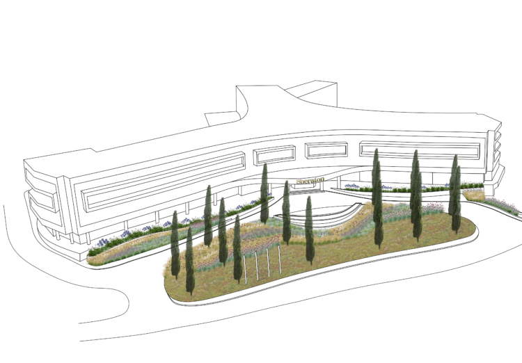 hotel ulaz biljke 3d prozirno