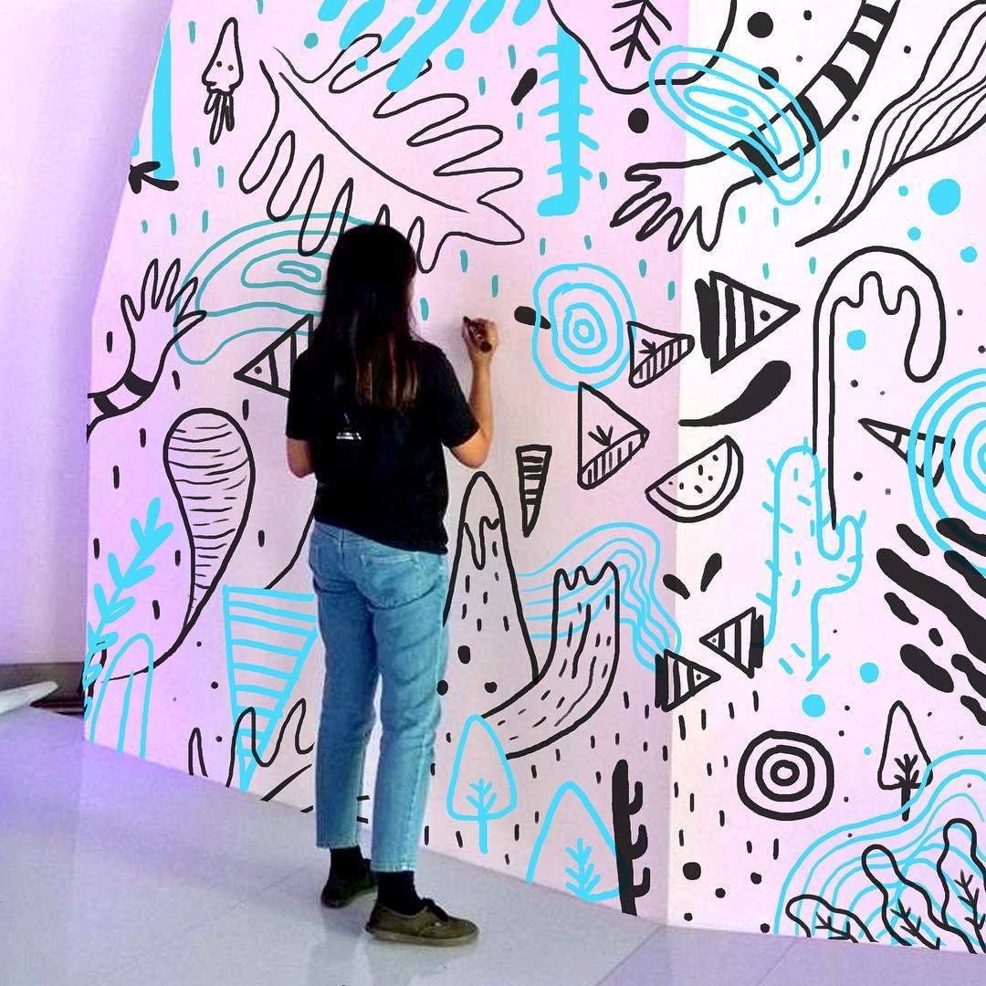 doodle art di Indonesia