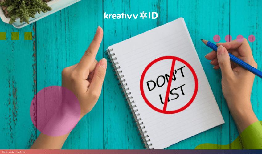 to don't list meningkatkan produktivitas