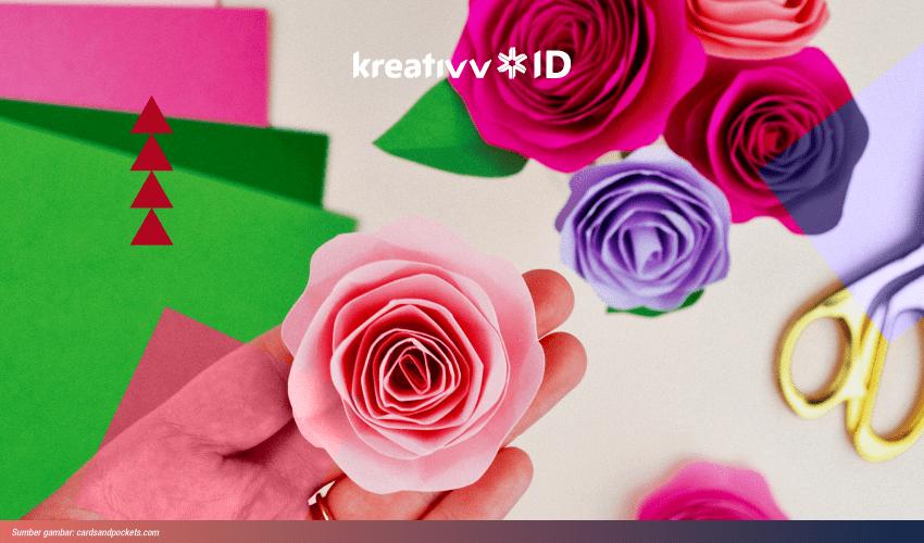 Hiasan Bunga Mawar dari Kertas Origami dan Cara Membuatnya | 500x850
