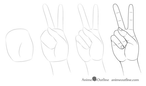 cara menggambar tangan 4