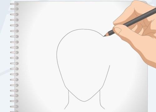cara menggambar rambut anime