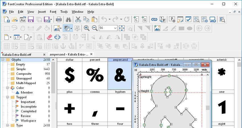 Aplikasi pembuat font 3