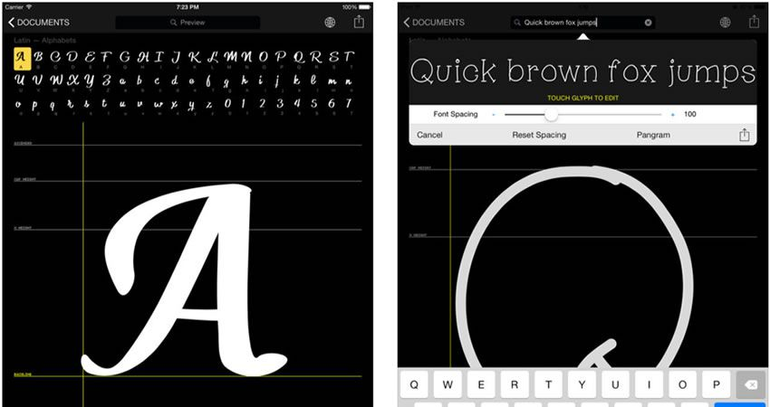 Tạo chữ viết tuyệt vời thông qua 8 ứng dụng tạo phông chữ này