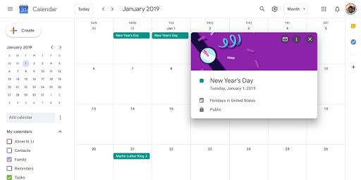 Aplikasi pembuat kalender 2