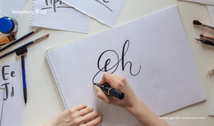hand lettering adalah
