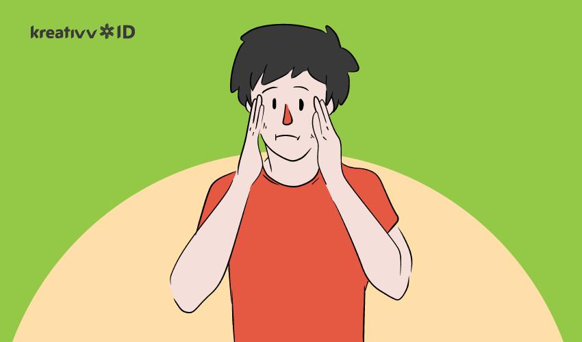 cara berhenti menyentuh wajah