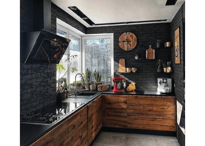 dapur coklat hitam