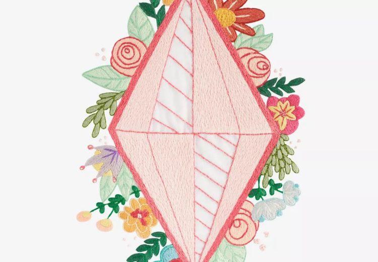 desain diamond dan bunga