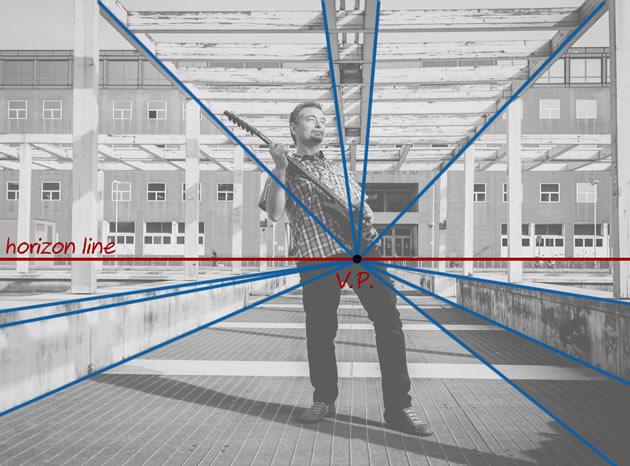 gambar 1 titik hilang perspektif