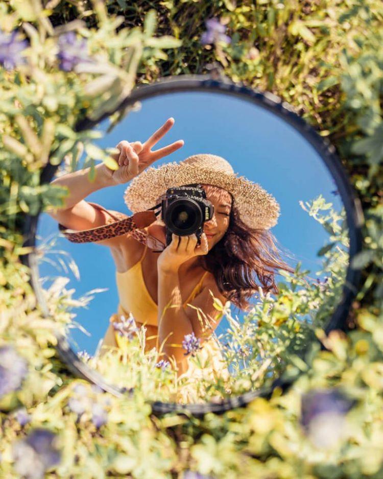 waktu pemotretan creative mirror photography
