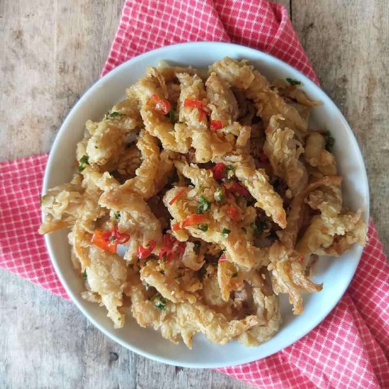 menu sarapan Jamur cabai garam