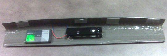 Backside of hidden camera for ATM skimmer