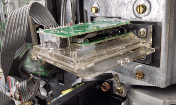 A Bluetooth-based pump card skimmer found inside of a Food N Things pump in Arizona in April 2016.