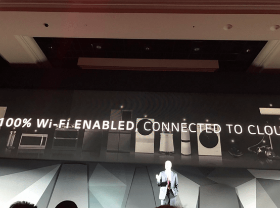 Electronics giant LG said at the Consumer Electronics Show (CES) today that all of its devices from now on will have Wi-Fi built in. Image: @Karissabe