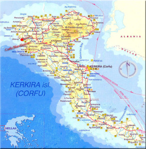 Kreikka Korfu Kartta