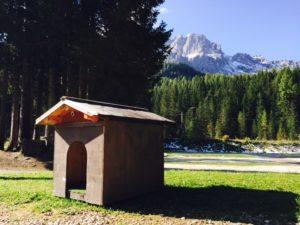 Den som ville kunde få en egen hundkoja placerad på sin campingplats, gratis.