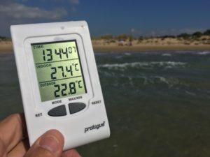 ...trots att det fortfarande är 23 grader i vattnet och dryga 27 i luften!