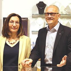 Christine und Reinhard Maria Damisch vom Salzburger Juwelier KREMO kreativ modern. 5020 Salzburg Österreich