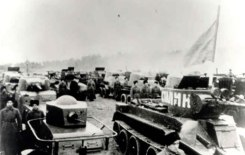 Soviet tanks entering Poland