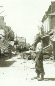 zerstörten Strasse von Iraklion