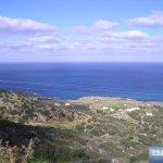 Blick hinunter zur Küste