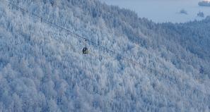 Das Rückgrat des Garmisch-Classic Skigebiets, die Kreuzeckbahn