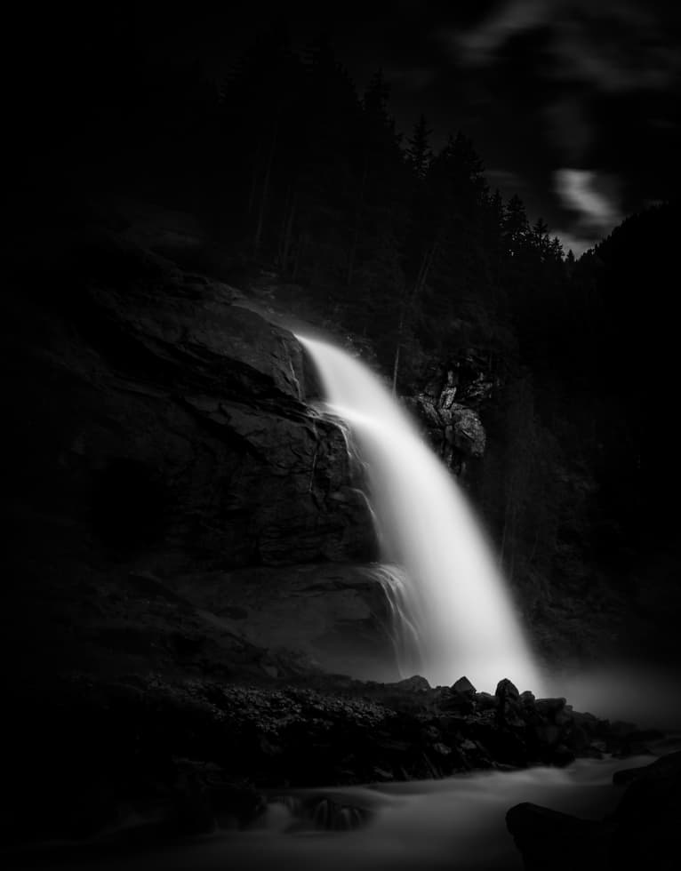 Long Exposure from the last of three cascades Krmmler waterfalls, austrias highest waterfall.