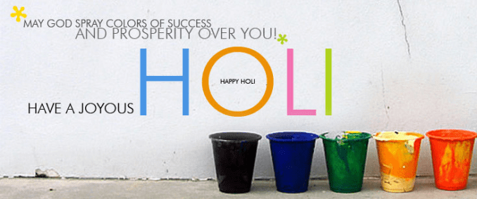Happy Holi 2018 Facebook Cover Photo A