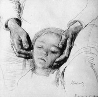 Sleeping Child by Käthe Kollwitz.
