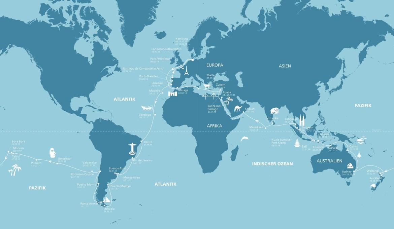 Weltreise mit AIDAcara. ©AIDA Cruises