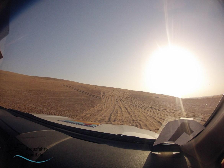 Wüstensafari im Sonnenuntergang in Dubai
