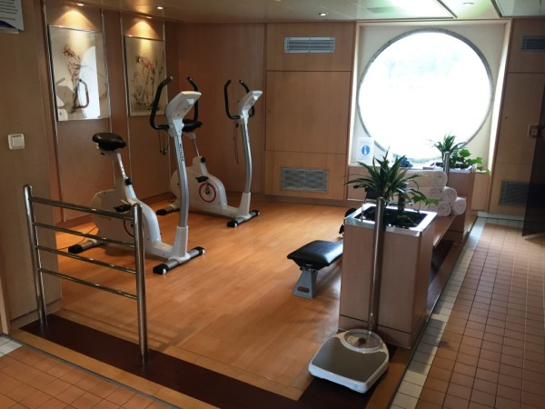 reisebericht donau flussreise nicko cruises MS Maxima Fitnessbereich