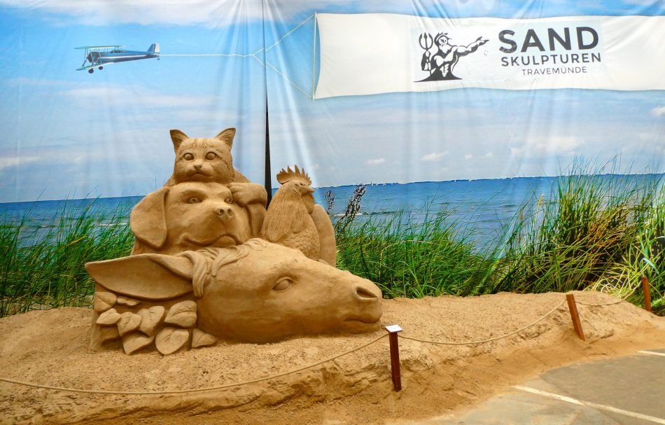 Sand Skulpturen in Travemünde