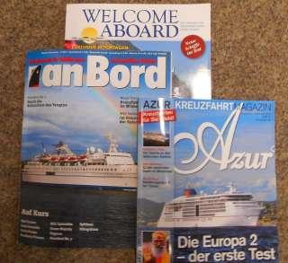 , Im Test: die wichtigsten Kreuzfahrtmagazine im Vergleich – Azur, an Bord und Welcome Aboard