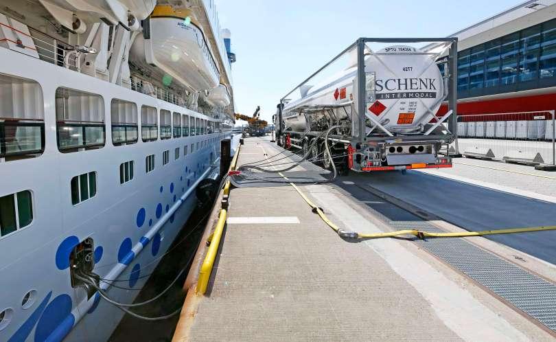 AIDA Cruises LNG Versorgung