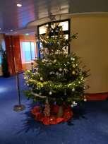 Heute Nacht wurden die Bäume von den Gästen mit dem Team geschmückt