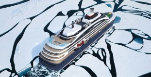 Ponant Icebreaker - von oben (c) Ponant - Stirling Design International