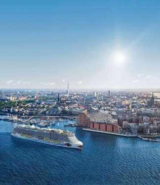 AIDAnova Hamburg Einfahrt
