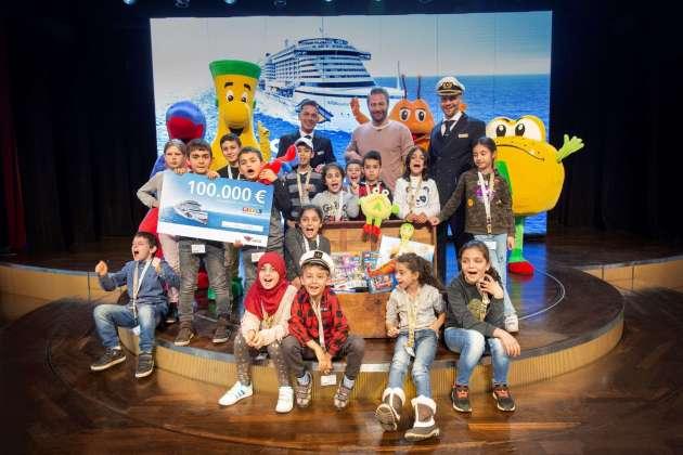 , RTL Spendenmarathon. AIDA Cruises ist zum ersten Mal mit 100000 Euro dabei als Partner dabei.